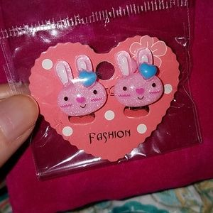 Other - Children's Bunny clip on earrings, new.
